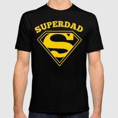 Superdad | Superhero Dad Gift Black X-LARGE Mens Fitted Tee
