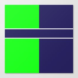 Team Colors...... 6 Lime green /navy Canvas Print