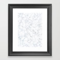 White Marble Framed Art Print