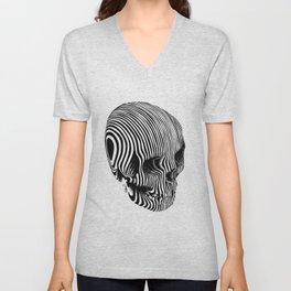 Skull Lines Tattoo Unisex V-Neck