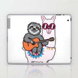 Sloth llama guitar Laptop & iPad Skin