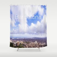 barcelona Shower Curtains featuring Barcelona by LaiaDivolsPhotography