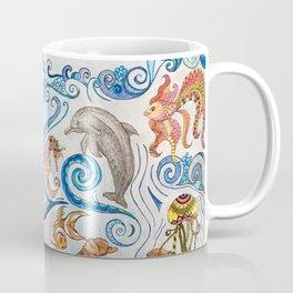 Ocean Zentangle Coffee Mug