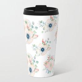 Dog Rose Pattern 2 Travel Mug
