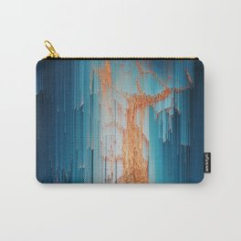 Glitch in the Dark - Abstract Pixel Art Carry-All Pouch