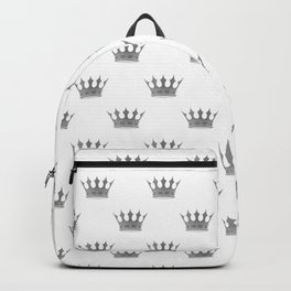 Wedding White Silver Crowns Backpack