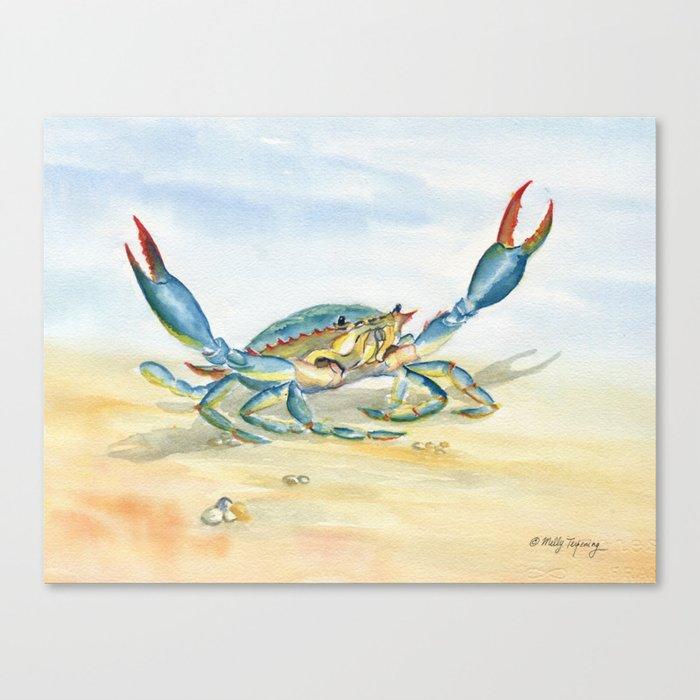 Colorful Blue Crab Leinwanddruck