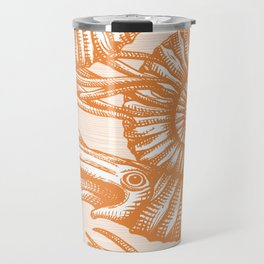 AMMONITE COLLECTION ORANGE Travel Mug