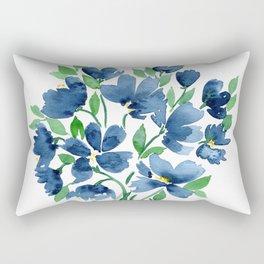 Modern Blue Rectangular Pillow