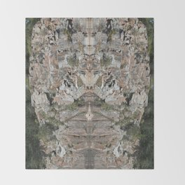 Granite Quarry Reflection Abstract Throw Blanket