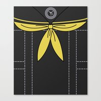 persona 4 Canvas Prints featuring Persona 4 Rise Kujikawa Uniform by Bunny Frost