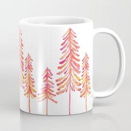 Pine Trees – Pink & Peach Ombré Coffee Mug