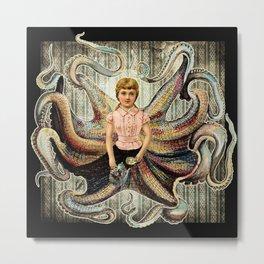 Octopus Girl Metal Print