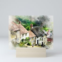 Shaftesbury, England (Watercolor Painting) Mini Art Print