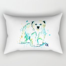 Polar Bear Baby Rectangular Pillow