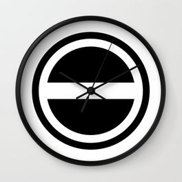 Curtis Holt Logo (Black) Wall Clock