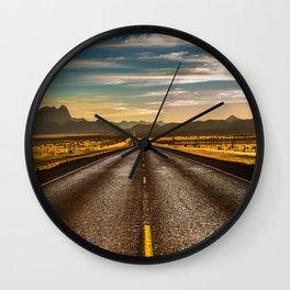 Road trip to Big Bend Wall Clock