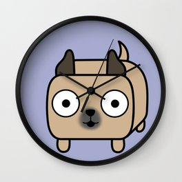 Pitbull Loaf - Fawn Pit Bull with Cropped Ears Wall Clock