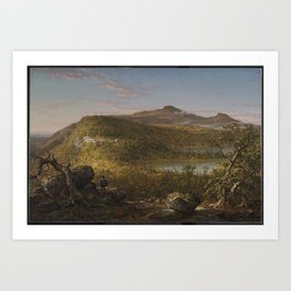 Thomas Cole (American, born England, 1801-1848). A View of the Two Lakes and Mountain House, Catskil Art Print