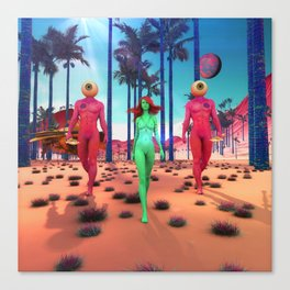 Visitors from Another Planet Canvas Print