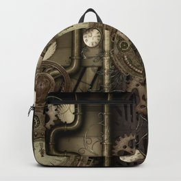 Steampunk, clocks and gears Backpack