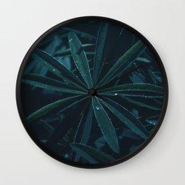 Dark Jungle Leaves Wall Clock