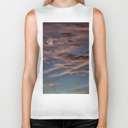 Crescent Moon At Sunrise Biker Tank