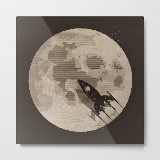 Around the Moon Metal Print