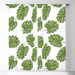 UrbanNesian Green Monstera Leaf Blackout Curtain