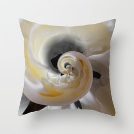 silken whirl abstract 3d digital painting Throw Pillow
