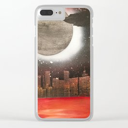 snow in the city Clear iPhone Case