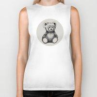 teddy bear Biker Tanks featuring Teddy Bear by Nicole Cioffe
