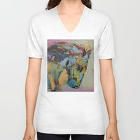 study V-neck T-shirts featuring Horse Study by Michael Creese