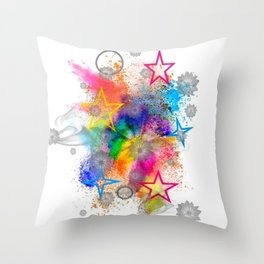 Color blobs by Nico Bielow Throw Pillow