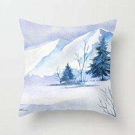 Winter scenery #2 Throw Pillow