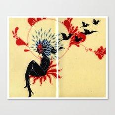 Bird Mask Canvas Print