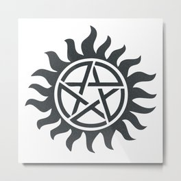 Supernatural Tattoo Metal Print