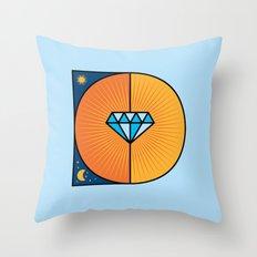 D like D Throw Pillow