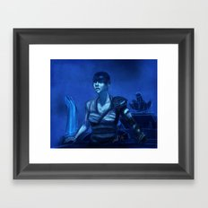 Furiosa in Blue Framed Art Print