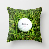 golf Throw Pillows featuring GOLF by Cooper Designs