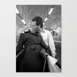 Love on the underground, London Canvas Print