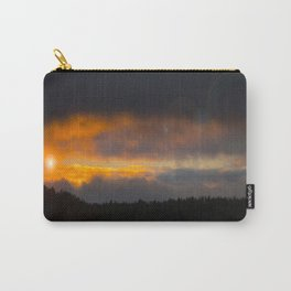 October Cloudy Sunset #decor #buyart #society6 Carry-All Pouch