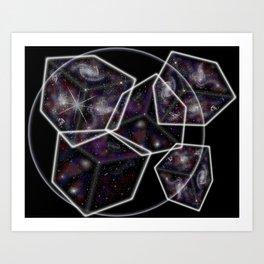 Universes in a Bubble Three Art Print