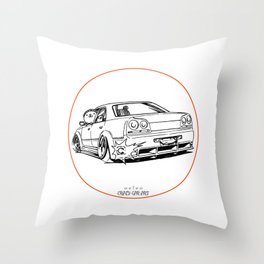 Crazy Car Art 0215 Throw Pillow