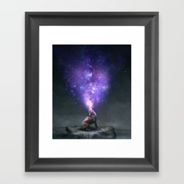 All Things Share the Same Breath Framed Art Print