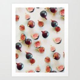 Fresh Figs on Linen Art Print