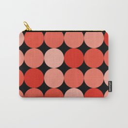 Polka Dots in Red and Pink Carry-All Pouch