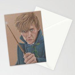 Newt Scamander Portrait played by Eddie Redmayne Stationery Cards