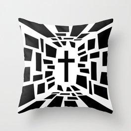 Christian Cross Throw Pillow