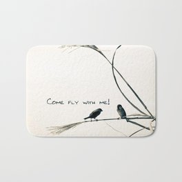 BIRDS. COME FLY WITH ME Bath Mat
